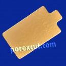 Retângulo pequeno de ouro/prata 8 x 8 cm.