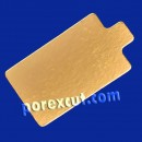 Small rectangle gold/silver 8 x 6 cm.