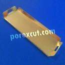 Bandeja com alças de ouro/prata 50 x 12 x 3 cm.