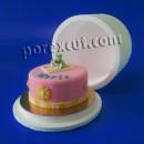 Caixa de bolo redondo