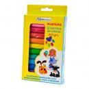 Plasticina, barras de 12 cores