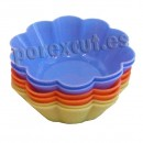 6 Flower silicone mould