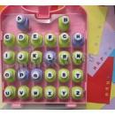 Conjunto de alfabeto - 26 peças.