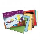 Couro de patente de bloco de papel, papel celofane e cartão folhas 30 245 x 320 mm.