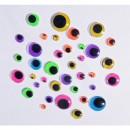 Adhesive eyes Neon / fluorescent