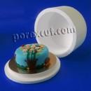 Round cake box