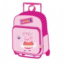 Backpack with trolley Peppa Pig 35x28x12cm.