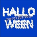 Text Halloween 10 cm. of height
