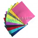 Set of 10 sheets of felt in various colors