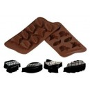 Silicone chocolate mould leaf